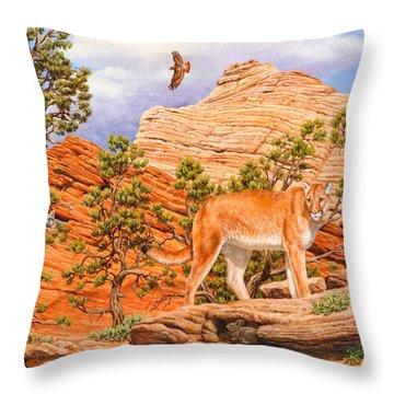 Cougar - Don't Move Throw Pillow