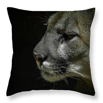 Cougar Throw Pillow by Ernie Echols