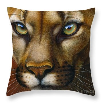 Cougar October 2011 Throw Pillow by Jurek Zamoyski