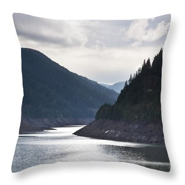 Cougar Reservoir Throw Pillow by Belinda Greb