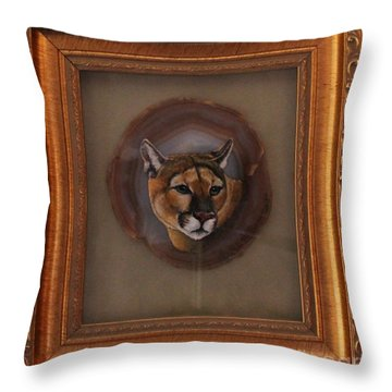The Mountain Lion Throw Pillow