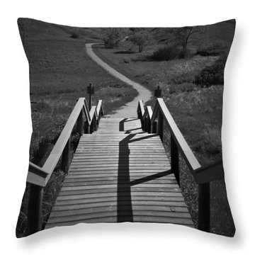 Coulee Stairs Throw Pillow
