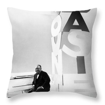 Count Basie (1904-1984) Throw Pillow by Granger