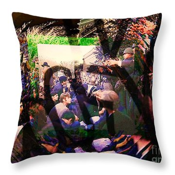 Counterculture Of The 1960s Throw Pillow by Elizabeth McTaggart
