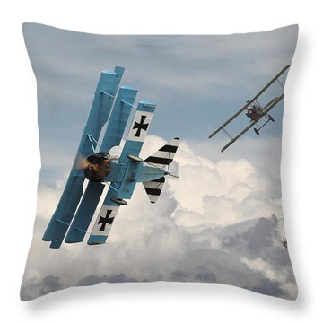 Counterstrike Throw Pillow by Pat Speirs