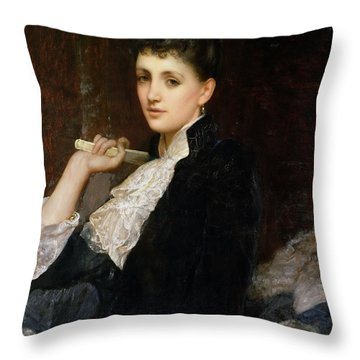Countess Of Airlie Throw Pillow by Sir William Blake Richmond
