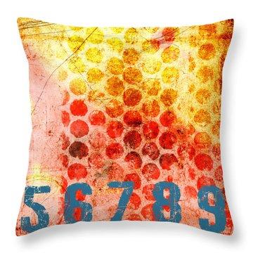 Counting Circles Throw Pillow