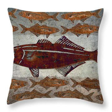 Counting Fish Throw Pillow