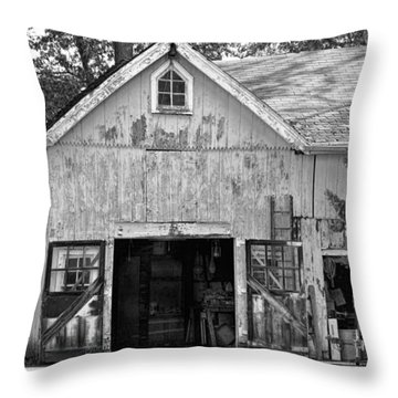Country - Barn Country Maintenance Throw Pillow by Mike Savad