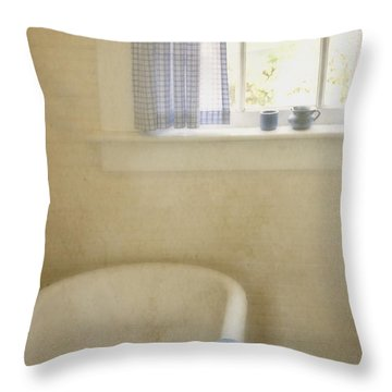 Country Bath Throw Pillow by Margie Hurwich