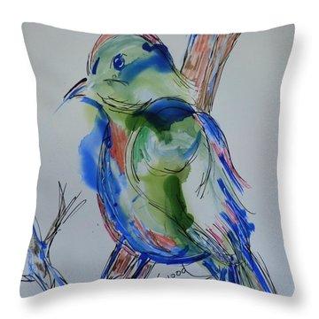 Country Bird Throw Pillow