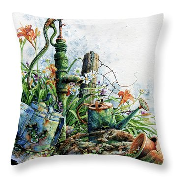 Country Charm Throw Pillow by Hanne Lore Koehler
