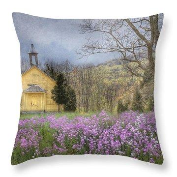Country Charm School Throw Pillow by Lori Deiter