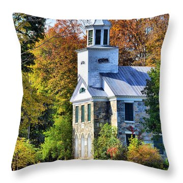 Throw Pillow featuring the photograph Country Church by Barbara Manis