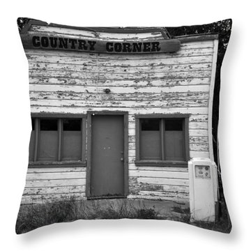 Country Corner Throw Pillow by David Lee Thompson