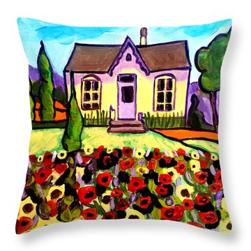 Country Cottage 3 Throw Pillow