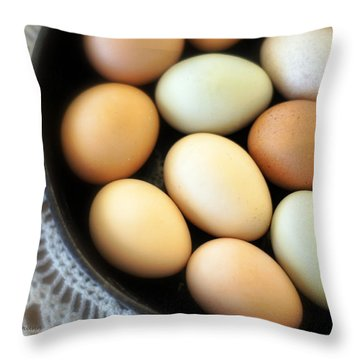 Country Egg Skillet Throw Pillow