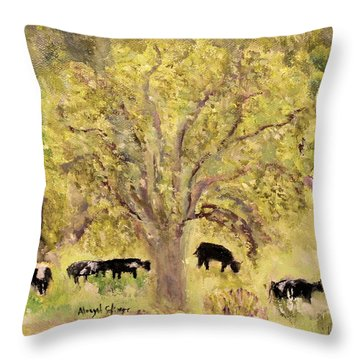 Country Farm Throw Pillow by Aleezah Selinger