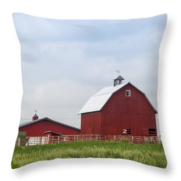 Country Farm Portrait Throw Pillow