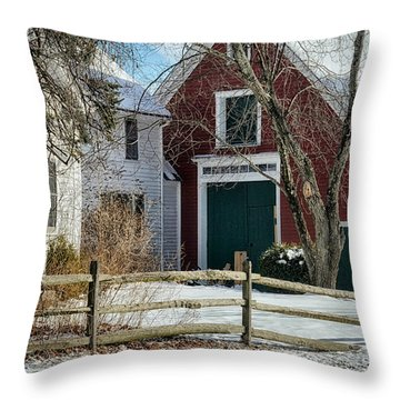 Country Farm Throw Pillow by Tricia Marchlik