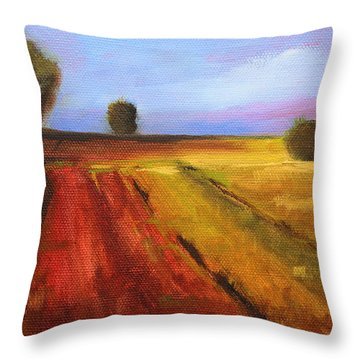 Country Fields Landscape Throw Pillow