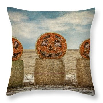 Country Halloween Throw Pillow