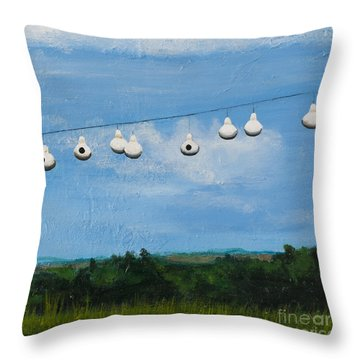Country Home. Nice View. Throw Pillow by Carla Dabney