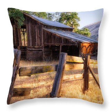 Country In The Foothills Throw Pillow