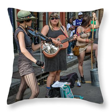Country In The French Quarter Throw Pillow by Steve Harrington