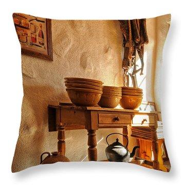 Irish Country Kitchen Throw Pillow by Barbara Budzinski