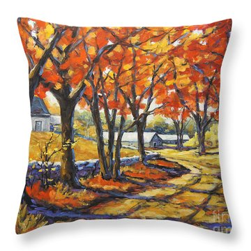 Country Lane Sentinels  Created By Prankearts Throw Pillow