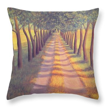 Throw Pillow featuring the painting Country Lane by Sophia Schmierer