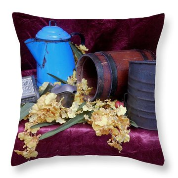 Country Life Throw Pillow by Pamela Walton