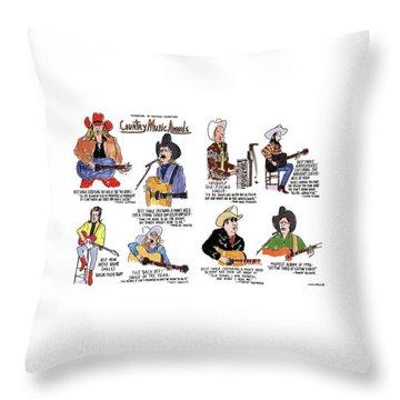 Country Music Awards Throw Pillow