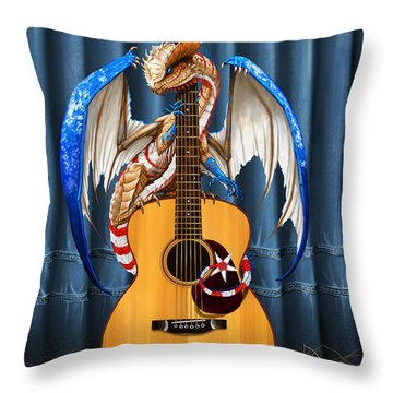 Country Music Dragon Throw Pillow