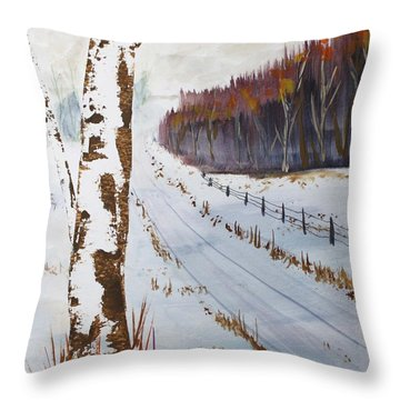 Throw Pillow featuring the painting Country Road by Jack G  Brauer