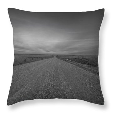 A Country Road Of South Dakota Throw Pillow