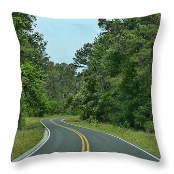 Country Road Throw Pillow by Victor Montgomery