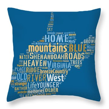 Country Roads 3 Throw Pillow by Paulette B Wright