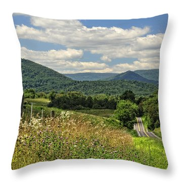 Country Roads Take Me Home Throw Pillow by Lara Ellis