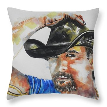 Country Singer Tim Mcgraw 02 Throw Pillow