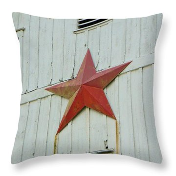 Country Star Throw Pillow by Jean Goodwin Brooks