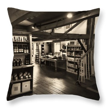 Country Store Throw Pillow by Bill Howard