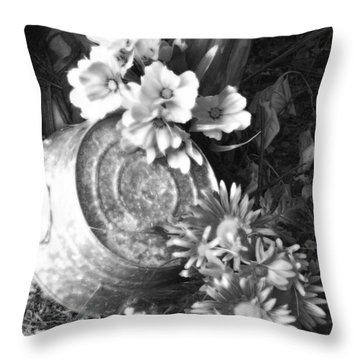 Country Summer - Bw 03 Throw Pillow by Pamela Critchlow