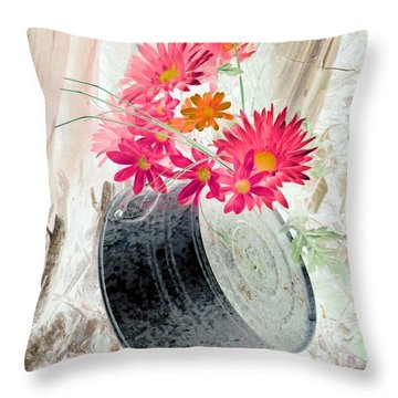 Country Summer - Photopower 1499 Throw Pillow by Pamela Critchlow