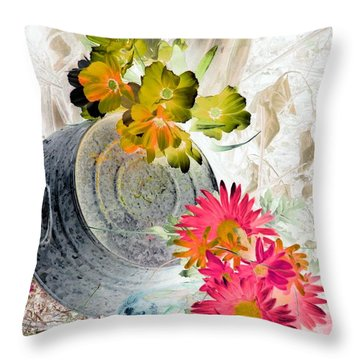 Country Summer - Photopower 1509 Throw Pillow by Pamela Critchlow