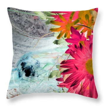 Country Summer - Photopower 1510 Throw Pillow by Pamela Critchlow