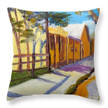 Country Village Throw Pillow