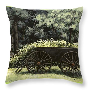 Country Wagon Throw Pillow