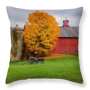 Country Wagon Square Throw Pillow by Bill Wakeley